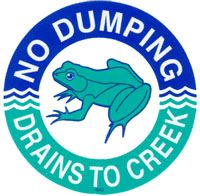 No-Dumping-Drains-to-Creek